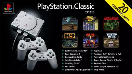 PlayStation Classic traz 20 títulos consagrados do console que fez história.
