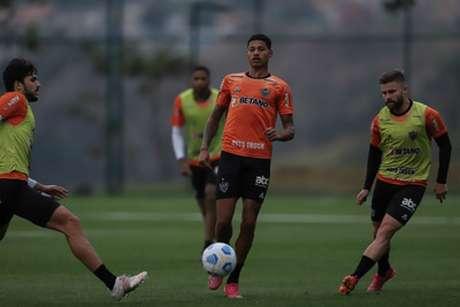 O time atleticano está na fase final de preparação para encarar o São Paulo, no Mineirão-(Pedro Souza/Atlético-MG)
