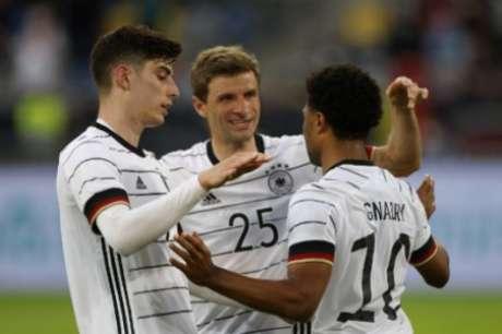 Com forte geração, Alemanha busca título da Euro (Foto: ODD ANDERSEN / AFP)