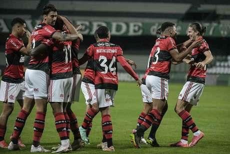 Flamengo chegou ao terceiro jogo sem ser vazado (Foto: Alexandre Vidal/Flamengo)