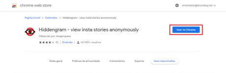 É possível ver stories de forma anônima no PC