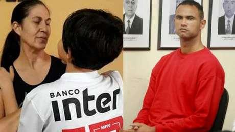 Bruninho com a avó; o menino é torcedor do São Paulo como a mãe (Foto: Montagem LANCE!)