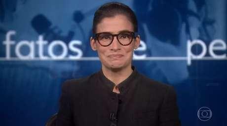 A apresentadora não segurou a emoção ao falar da rotina durante a pandemia.