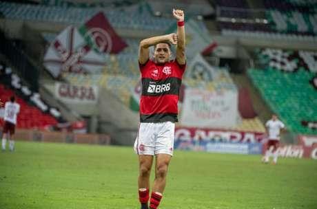 João Gomes já atuou em 21 partidas na temporada (Foto: Alexandre Vidal / Flamengo)