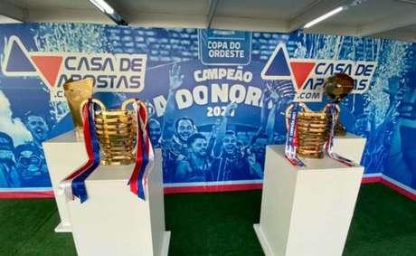Clube irá expor taças da Copa do Nordeste aos torcedores (Reprodução: Instagram Bahia)