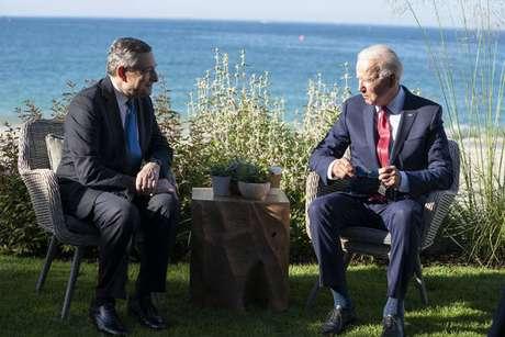 Draghi se reuniu com o presidente americano à margem do G7
