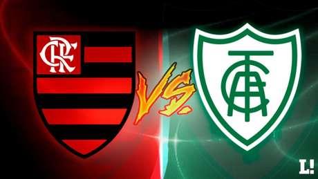 Flamengo e América-MG se enfrentam neste domingo, no Maracanã (Arte LANCE!)