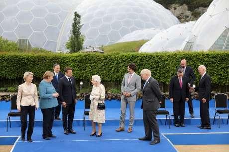 Imagem de reunião de líderes do G7, na Grã-Bretanha. 11/6/2021. Jack Hill/Pool via REUTERS