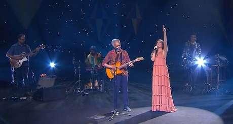 Gilberto Gil e Juliette em live junina no Dia de Santo Antônio