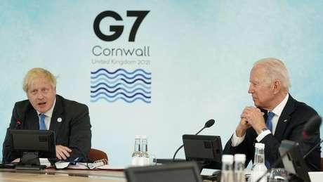 Boris Johnson e Joe Biden estão entre as autoridades reunidas na Inglaterra durante a cúpula do G7