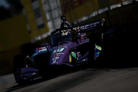Romain Grosjean não completou as duas corridas de Detroit