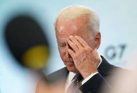 Joe Biden, presidente dos EUA, durante fala no G7