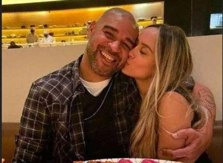 Adriano e a estudante de medicina Laisa Lemos (Foto: Reprodução/Instagram)