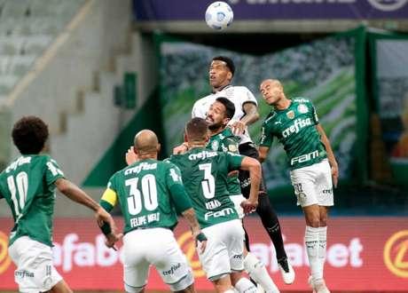 Palmeiras saiu na frente no último Dérbi, mas cedeu o empate (Foto: Rodrigo Coca/Ag.Corinthians)