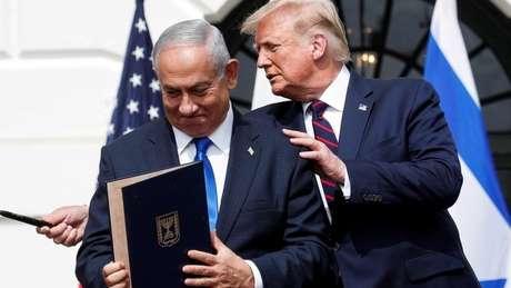 Donald Trump e Netanyahu tiveram uma relação muito próxima