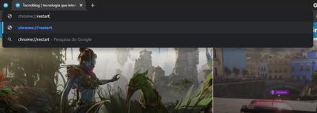 Comando permite reiniciar o Chrome