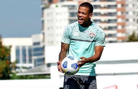 Caio Paulista em treino do Fluminense (Foto: MAILSON SANTANA/FLUMINENSE FC)