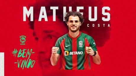 Matheus Costa chega no Marítimo após sucesso com o Vizela (Divulgação/Marítimo)