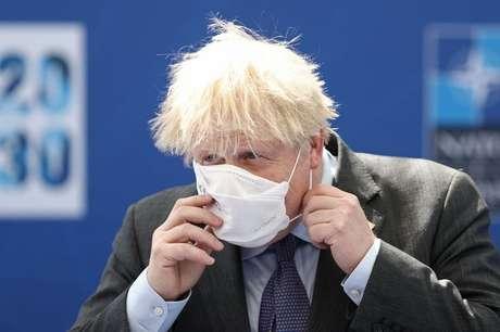 Premiê Boris Johnson em Bruxelas 14/6/2021 Kenzo Tribouillard/Pool via REUTERS