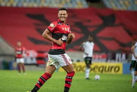 Rodrigo Muniz comemora gol marcado sobre o América-MG (Foto: Alexandre Vidal/Flamengo)