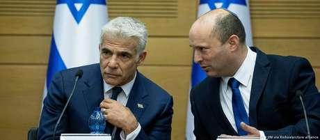 Jair Lapid e Naftali Bennett: governo conjunto