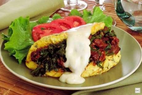 Guia da Cozinha - Omelete prática recheada