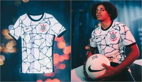 Corinthians lançou sua camisa 1 nesta terça-feira e já usará nesta quarta (Foto: Montagem/Divulgação/Nike)