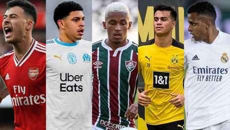 Brasileiros disputam o Golden Boy (Foto: Montagem LANCE!)