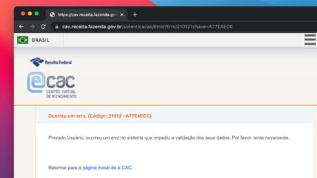 e-CAC com problemas