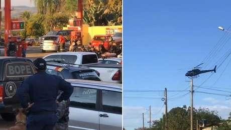 Policiais armaram base da operação num posto de gasolina em Edilândia