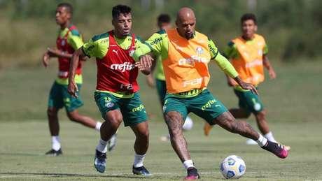 O Palmeiras treinou no Paraguai antes de viajar para enfrentar o Juventude (Foto: Cesar Greco/Palmeiras)