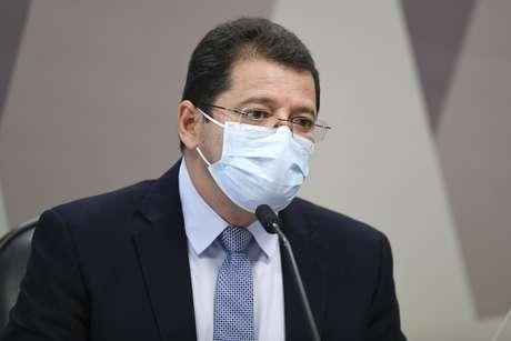 Marcellus Campêlo,  ex-secretário de Saúde do Amazonas, presta depoimento na CPI da Covid