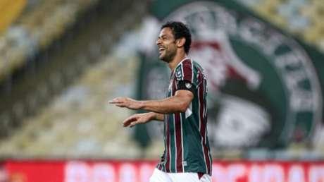 Fred, marcando gol no Maracanã (Foto: Lucas Merçon/Fluminense FC)