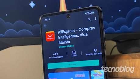 App do AliExpress para Android