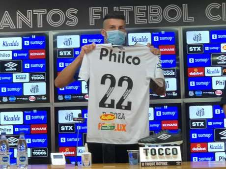 Danilo Boza foi um dos cinco reforços do Peixe até esse momento (FOTO: Divulgação/Santos FC)