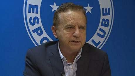 Medioli fez parte do conselho gestor do Cruzeiro em 2020 e defendeu a mudança de clube para empresa-(Reprodução/TV Globo)