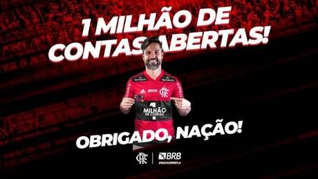 Flamengo celebrou a marca nas redes sociais (Foto: Divulgação/Flamengo)