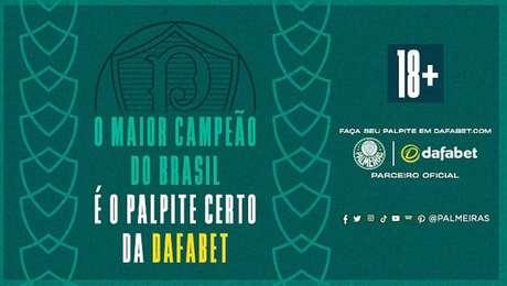 Palmeiras fechou acordo de patrocínio com a Dafabet