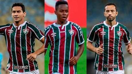 Ganso, Cazares e Nene disputam a posição no meio-campo do Fluminense (Foto: Montagem LANCE!)