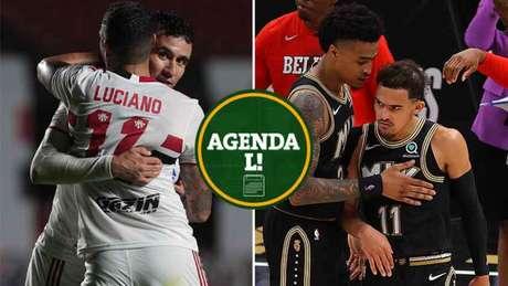 A quarta-feira terá Brasileirão, NBA e muito mais! (Foto: Montagem LANCE!)
