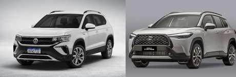 Taos Comfortline e Corolla Cross XRE: motor 1.4 turbo contra 2.0 aspirado.