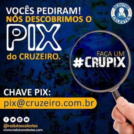 CruPix é usado para pagar salário dos funcionários (Divulgação/Cruzeiro)