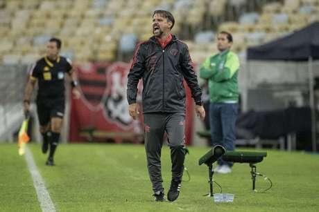 Mauricio Souza em ação na partida do Flamengo (Foto: Alexandre Vidal/Flamengo)