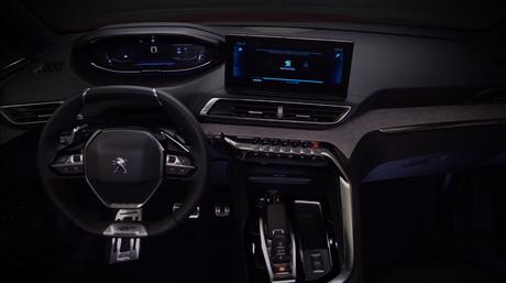 Teaser divulgado pela Peugeot mostra volanhte da vfersão GT e o novo i-Cockpit.