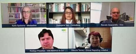 Painel online do Summit ESG discutiu a diversidade nas empresas.