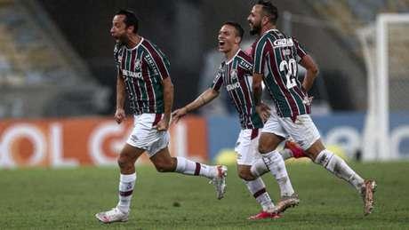 Nene marcou o gol do Fluminense na vitória sobre o Santos, no Maracanã (Foto: LUCAS MERÇON / FLUMINENSE F.C.)
