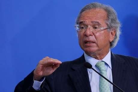 Ministro da Economia, Paulo Guedes, participa de evento no Palácio do Planalto 19/08/2020 REUTERS/Adriano Machado