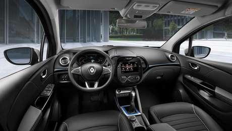 Interior do Renault Kaptur, da Rússia, que mudou em 2020.