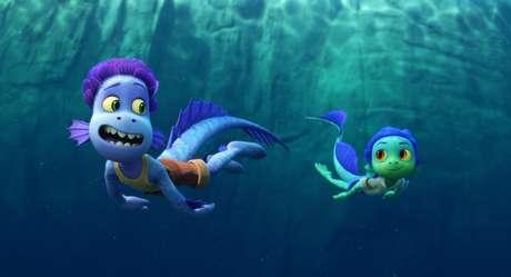 Luca, em sua forma de monstro marinho, tem 3.436 escamas em seu corpo.