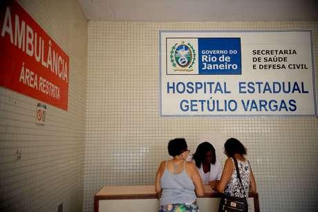 Fachada do Hospital Estadual Getúlio Vargas, na Penha, zona norte do Rio